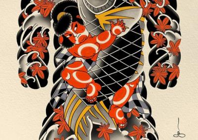 TATUAGGIO GIAPPONESE BY GALLO Twilighttattoo PAVIA JAPANESE TATTOO